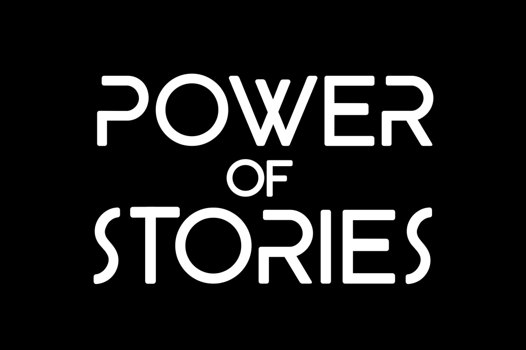 The logo for our exhibition, Power Of Stories
